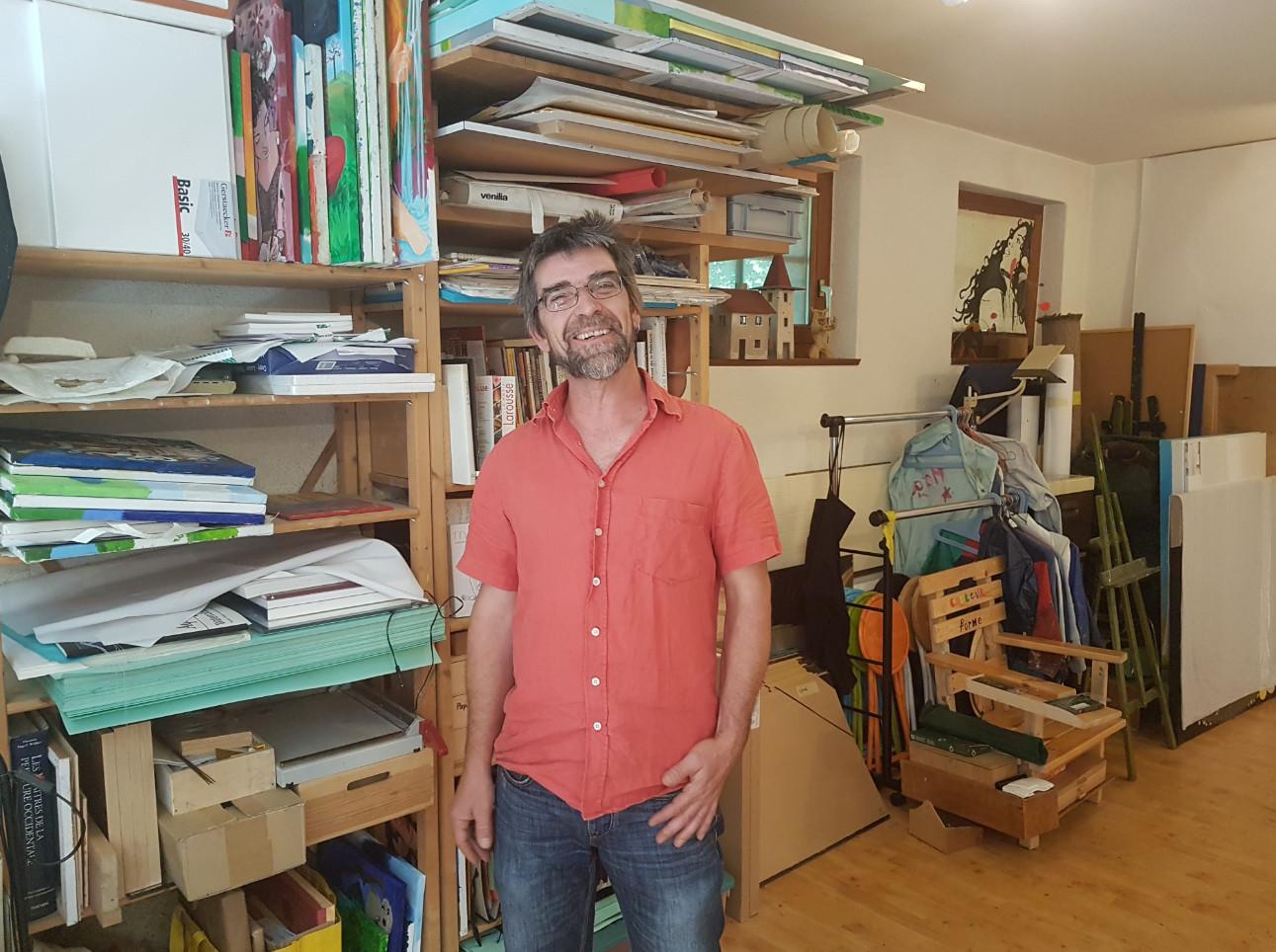 Philipe le Coultre dans son atelier du 43, rue Saint-Joseph. © Fabien Kuhn