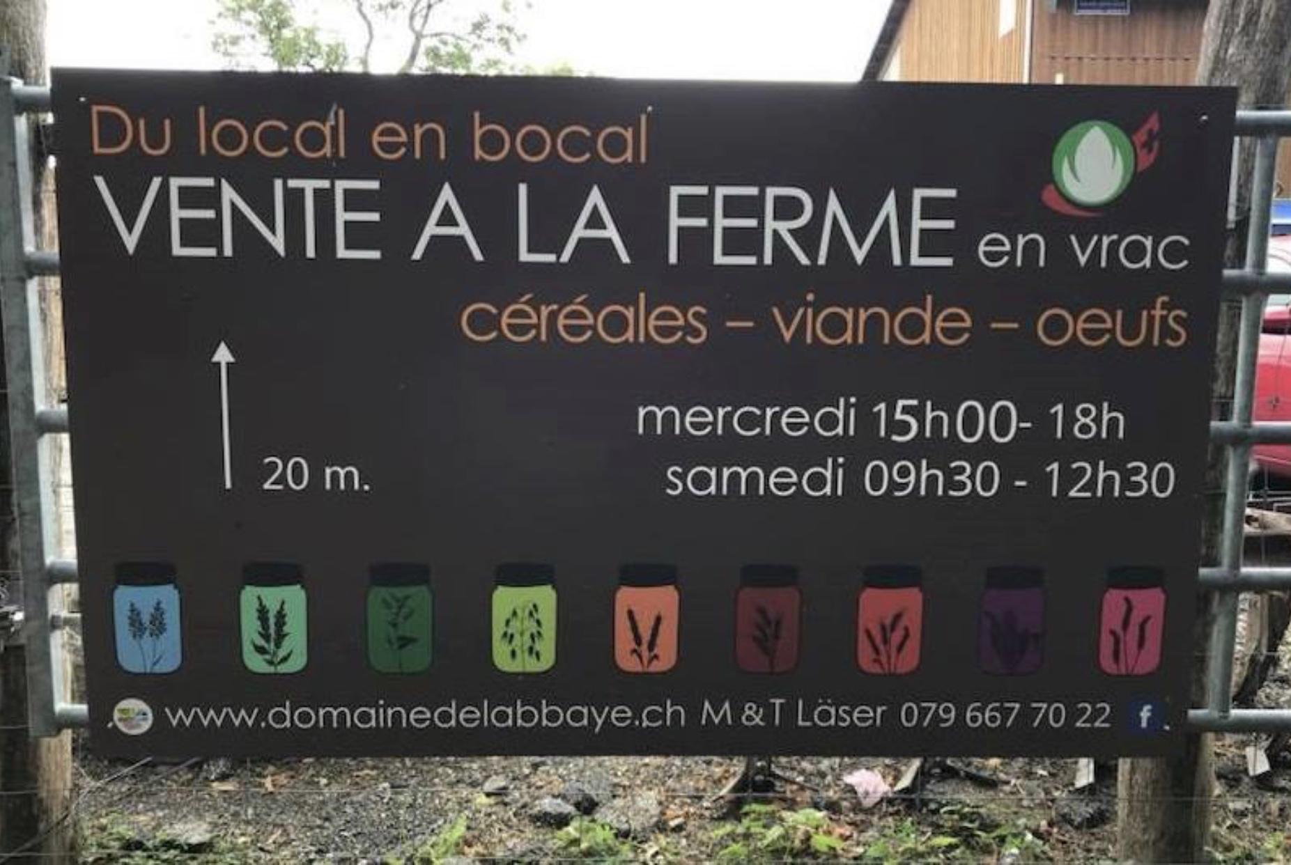 Domaine de l'Abbaye - horaires du local en bocal