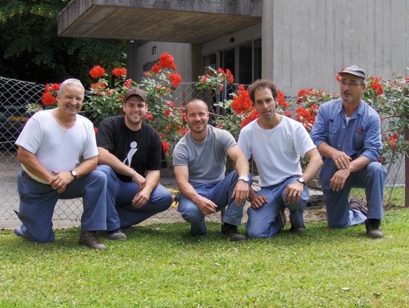 15. L'équipe des jardiniers d'alors