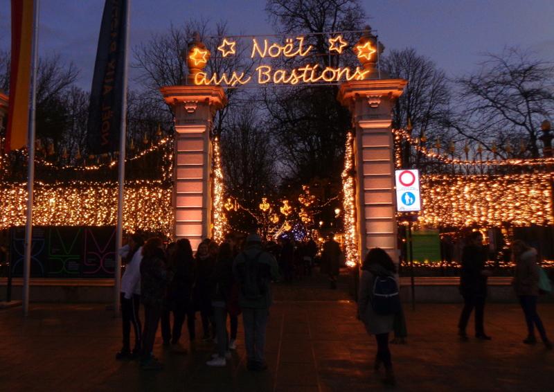 L'entrée du Marché de Noël version 2018