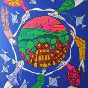 Le Monde Tourne – Expo  peinture – Studio Art Unlimited – 25 Grand-Rue – Genève.