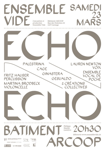 Affiche ECHO - Ensemble Vide