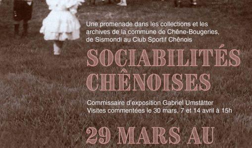 Sociabilités chênoises : Exposition des archives de la commune de Chêne-Bougeries