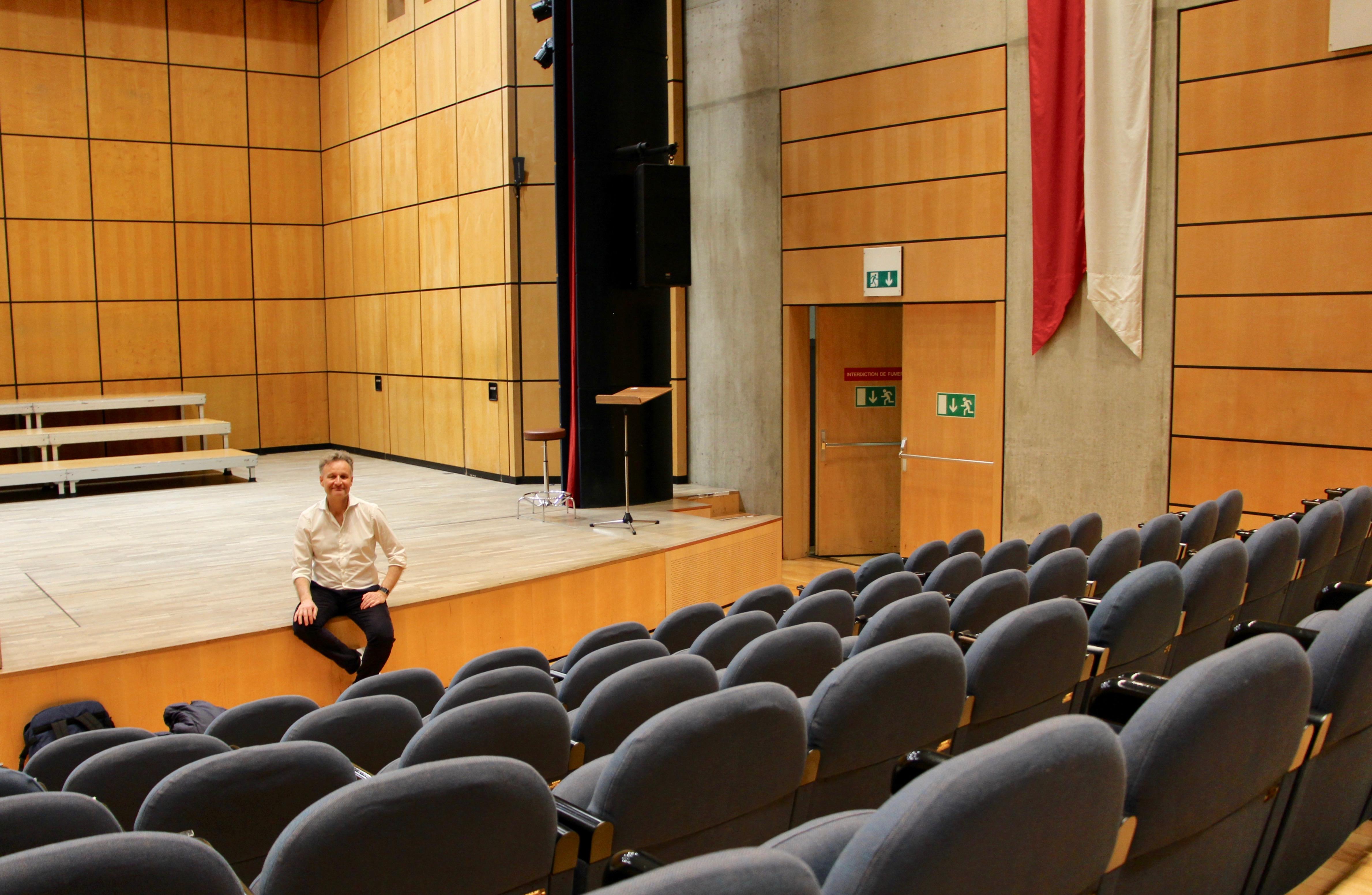 Philippe Béran à l'Aula Frank-Martin ©Eugénie Rousak