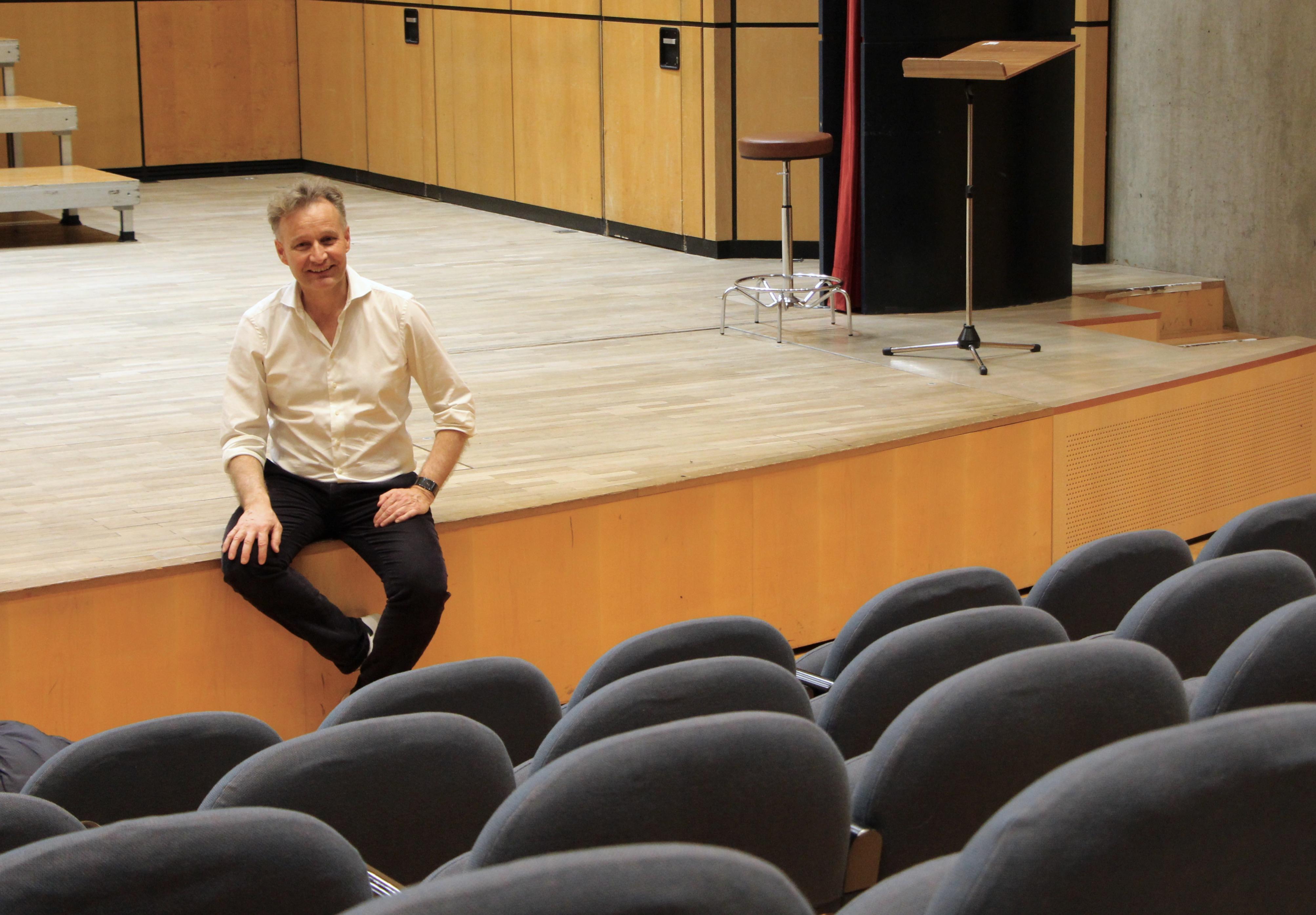 Philippe Béran après la répétition ©Eugénie Rousak