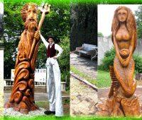 Les deux statues monumentales du parc de l'Hôpital Beau-Séjour ont disparu !