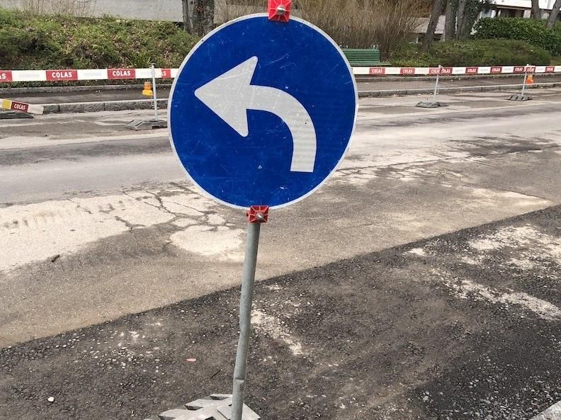 On ne peut plus tourner à droite...