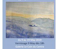 Exposition : « Reliefs oniriques »  Thème : Montagnes  Techniques : Monotypes, Gravures en bois. Vernissage 9 Mai dès 18:00