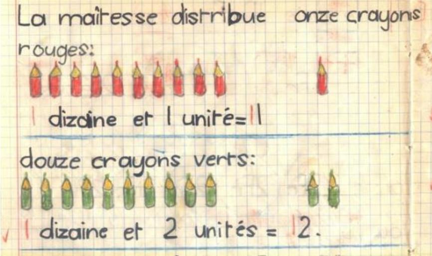 Cahier de calcul, 1949. © Maryelle Budry