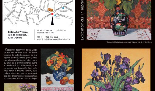 Exposition individuelle de l'artiste ARNERA à la Galerie l'Art'monie Genève