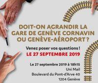 Table ronde: Agrandir la gare de Genève, oui… Mais où et à quel prix ?