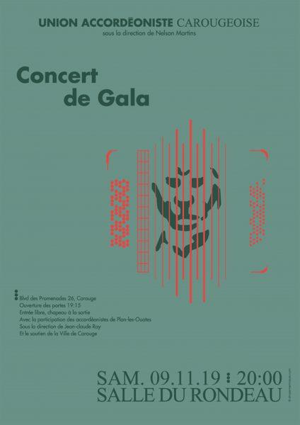 Concert de gala de l'Union Accordéoniste Carougeoise le samedi 9 novembre 2019