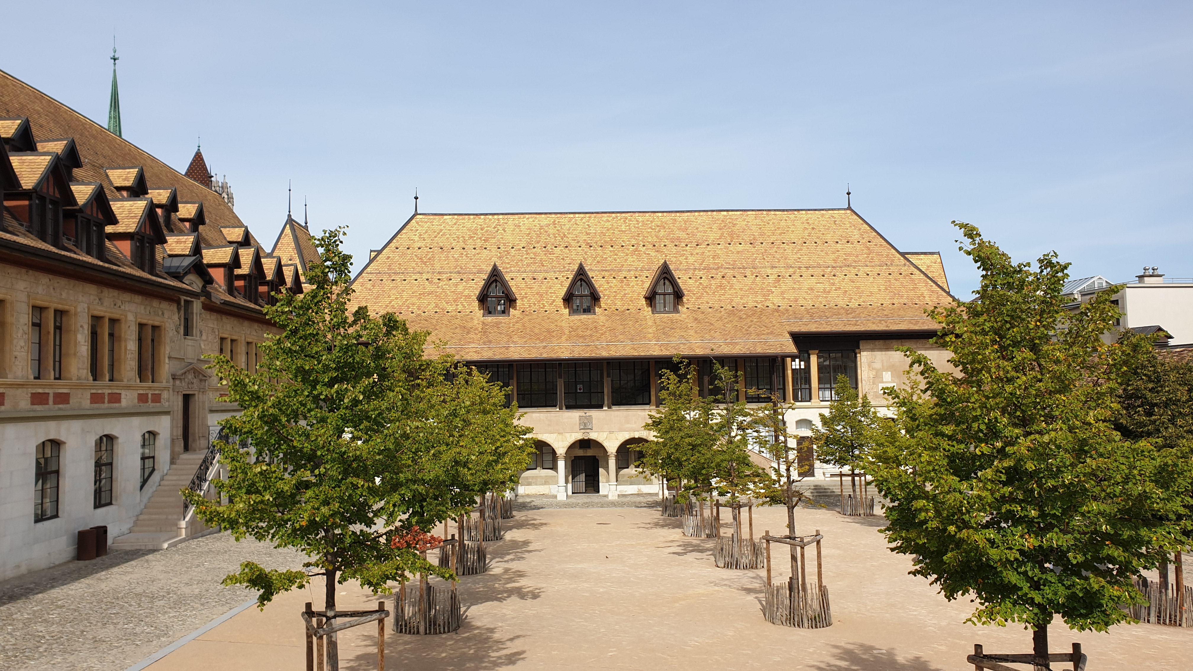 Le toit du collège Calvin, © Gasser Ceramic