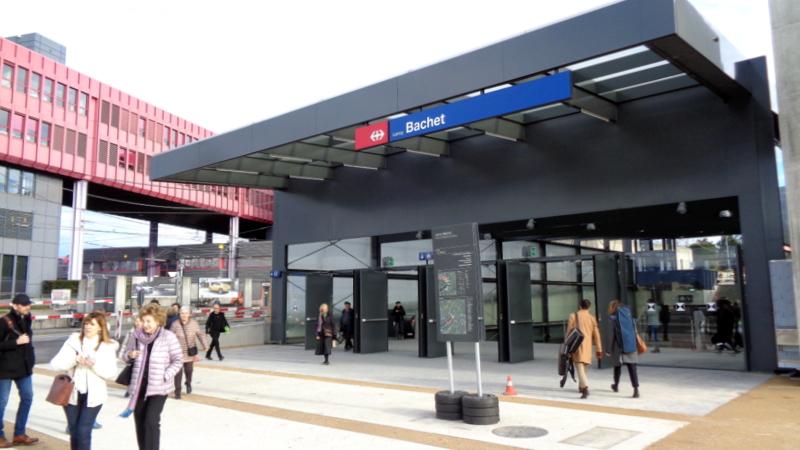 16. L.-B. La gare de Lancy-Bachet