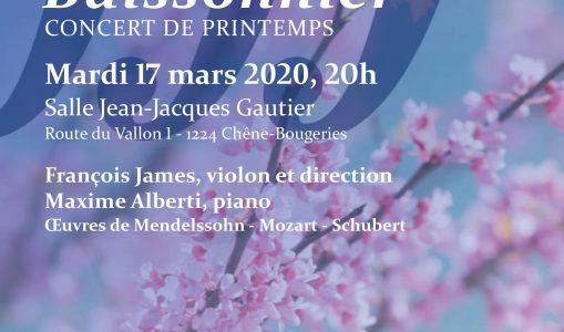 Concert de Printemps – Orchestre Buissonnier