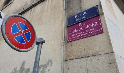 Les plaques roses des rues de la Jonction