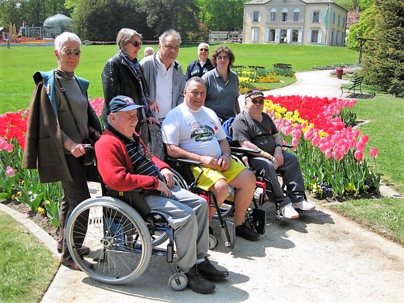 Accompagnement des patients lors d'une sortie au Jardin Botanique