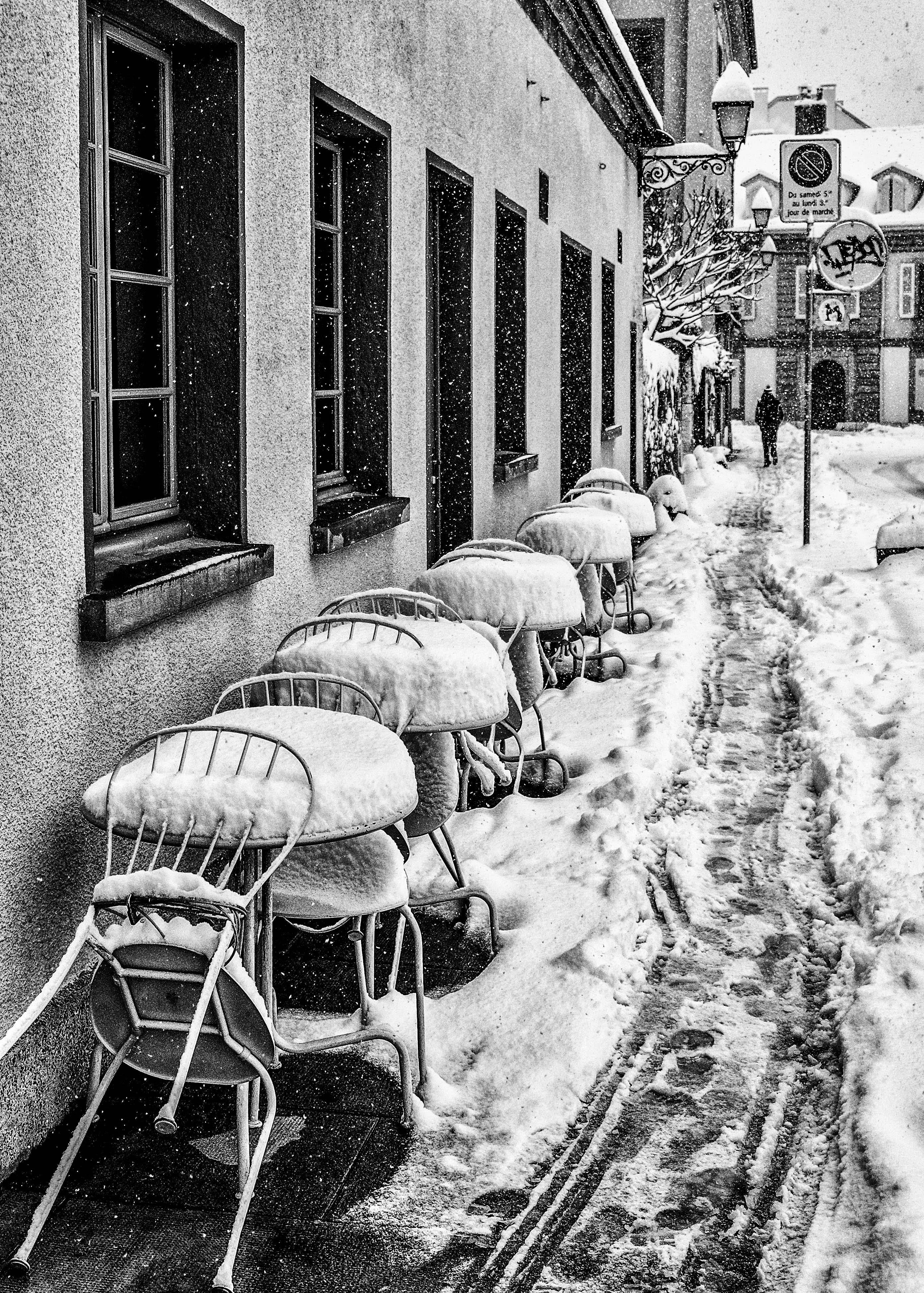 Carouge sous la neige. © Bernard Magnin