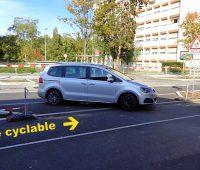 Nouvelle piste cyclable route de Veyrier: danger!