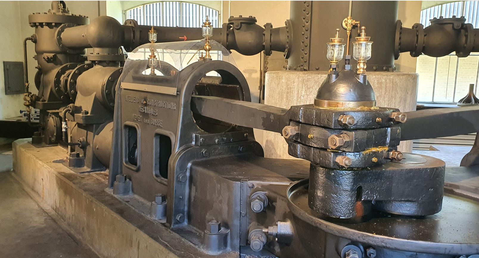 La machine de pompage des eaux active jusqu'en 1994.© FK
